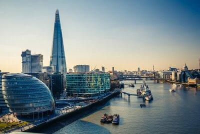 Väggdekor Themsen och London City