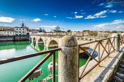 Väggdekor Tiberius-bron i Rimini