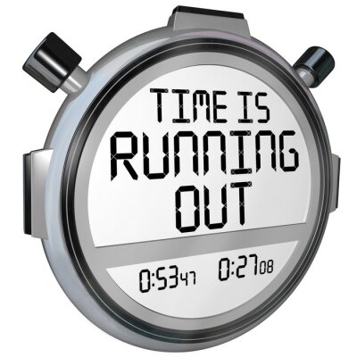 Väggdekor Tiden rinner ut stoppuret klocka
