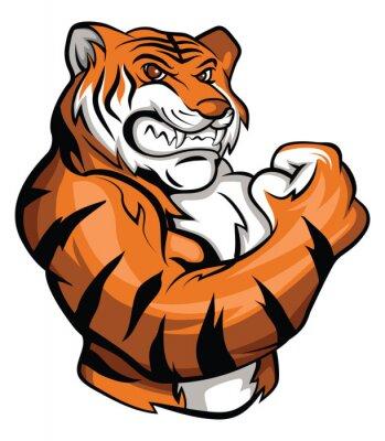 Väggdekor Tiger Mascot