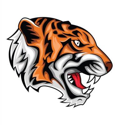 Väggdekor tiger ryta