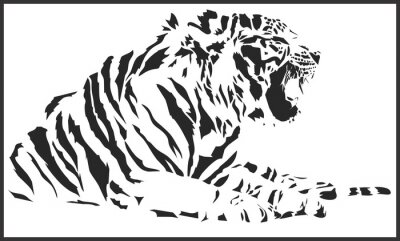 Väggdekor tiger_sitting