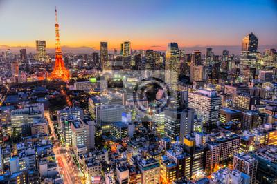 Väggdekor Tokyo, Japan.