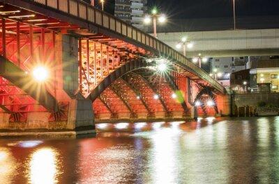 Väggdekor Tokyo Natten överbryggar