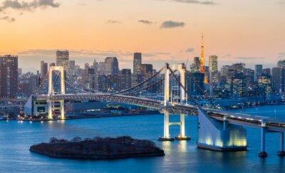 Väggdekor Tokyo Tower Regnbågsbron