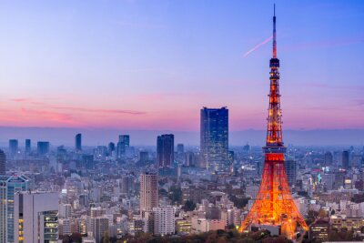 Väggdekor Tokyo Tower, Tokyo, Japan