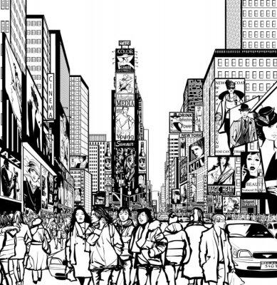 Väggdekor Tolkning av Times Square i New York