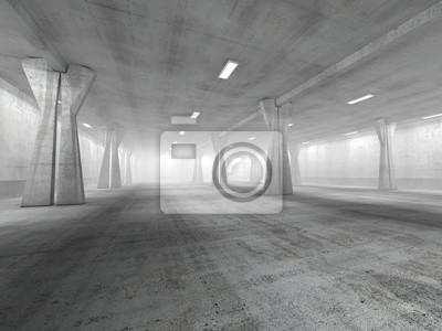 Väggdekor Tom underjordiska parkeringen 3D-rendering