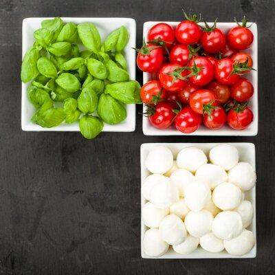 Väggdekor Tomat mozzarella basilika