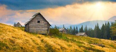 Väggdekor trä ukrainska hus