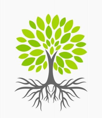 Väggdekor Träd med rötter