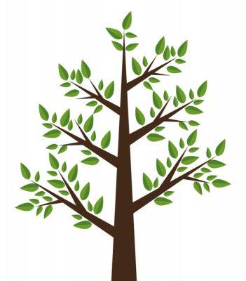 Väggdekor träd växt konstruktion