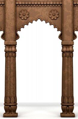 Väggdekor Traditionell indisk Kolumn Arc