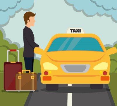 Väggdekor transport tjänstedesign