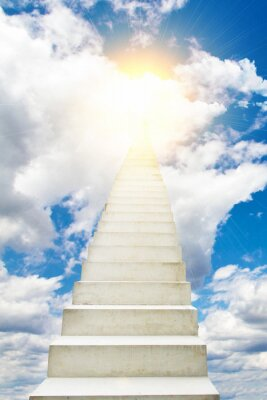 Väggdekor Trappa till himmel