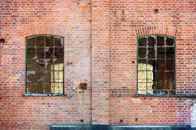 Väggdekor trasiga fönster