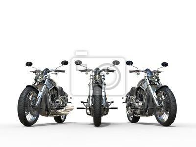 Väggdekor Tre enorma veteranmotorcyklar