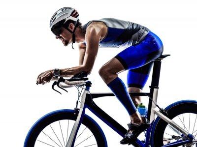 Väggdekor triathlon iron man idrottsman cyklist cykling
