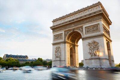 Väggdekor Triumfbågen i Paris eftermiddag
