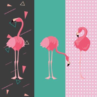 Väggdekor tropical flamingo design