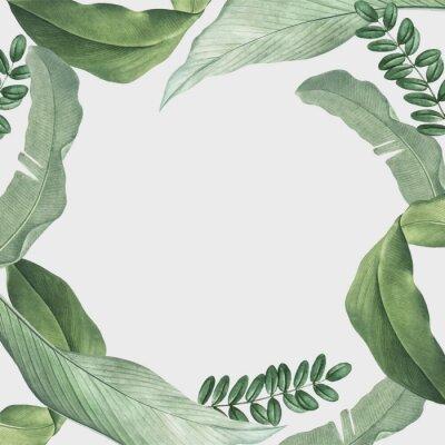 Väggdekor Tropical leaves frame