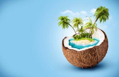 Väggdekor tropisk ö