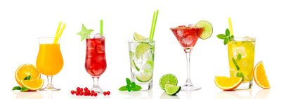 Väggdekor Tropiska cocktail sortiment