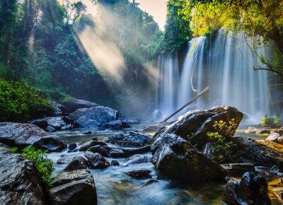 Väggdekor tropiska vattenfall
