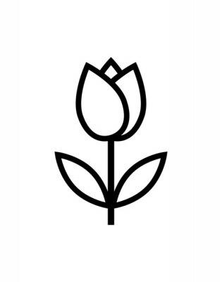 Väggdekor tulpan blomma ikon