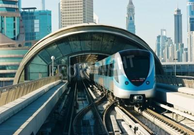 Väggdekor tunnelbana spår i Förenade Arabemiraten