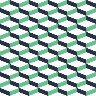 Väggdekor Turkos geometriska illusion Seamless