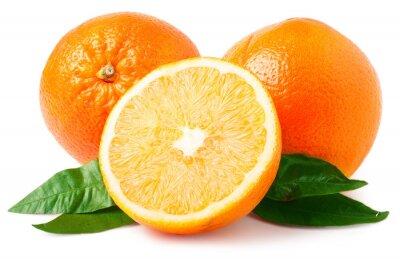 Väggdekor Två apelsiner isolerad på vitt