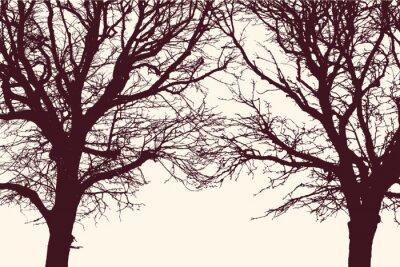 Väggdekor två träd