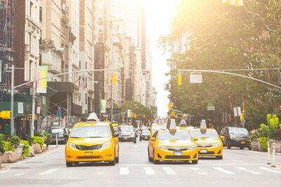 Väggdekor Typiska gul taxi i New York City