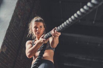 Väggdekor Ung atletisk tjej i träning