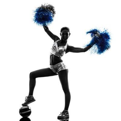 Väggdekor ung kvinna cheerleader cheerleading silhuett