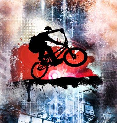 Väggdekor Ung manlig cykelhoppare. Hälsosam livsstil