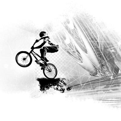 Väggdekor Ung manlig cykelhoppare. Hälsosam livsstil.