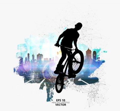 Väggdekor Ung manlig cykeltröja. Hälsosam livsstil.