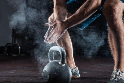 Väggdekor Unga idrottare gör sig redo för träning