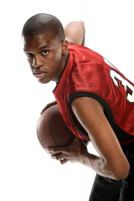 Väggdekor Unga Svart basketspelare