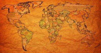 Väggdekor Ungern territorium på världskartan