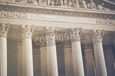 Väggdekor United States Supreme Court Pelare av rättvisa och lag