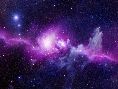 Väggdekor Universum fyllt av stjärnor, nebulosa och galax