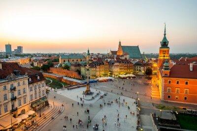 Väggdekor Uppifrån av gamla stan i Warszawa