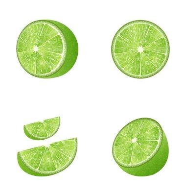Väggdekor Uppsättning av frukt Lime