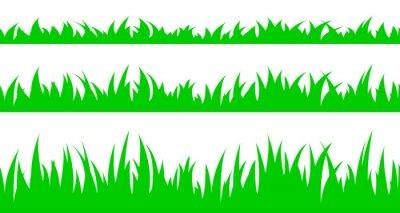 Väggdekor Uppsättning av sömlösa gräset.