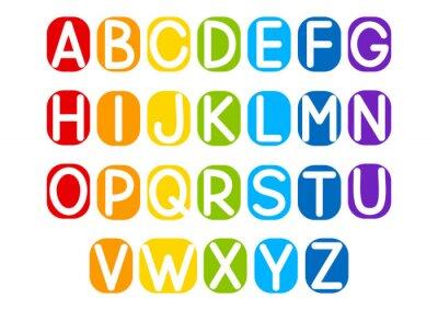 Väggdekor Uppsättning vektor bokstäver för din design
