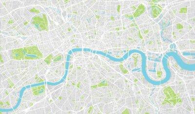 Väggdekor Urban stadskarta över London, England