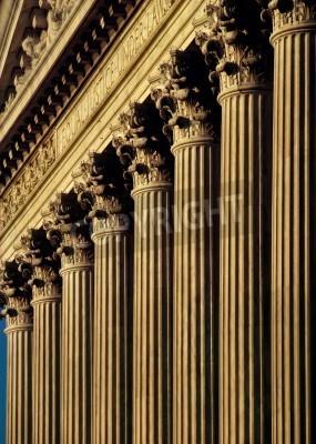 Väggdekor USA: s högsta domstol fasad och kolumner